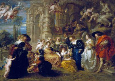 Peter Paul Rubens, De liefdestuin, omstreeks 1630-1635, olieverf op doek,198×283cm, Prado, Madrid